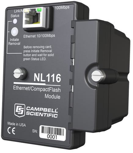 Campbell Scientific NL116 Ethernet and CF Card Module