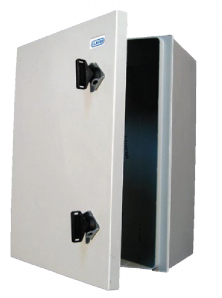 Lockable metal shelter box / control cabinet