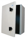 Lockable polymer shelter box / control cabinet - non-corrosive, isolating and assembly